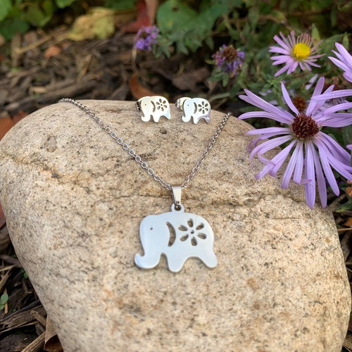 Elephant  Necklace & Earring Set