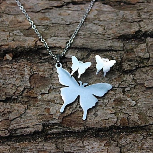 Butterfly Necklace & Earring Set