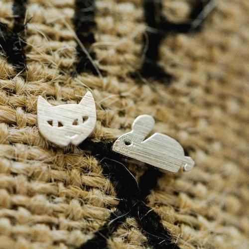 Cat & Mouse Post Earrings