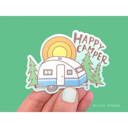 Happy Camper Vinyl Sticker