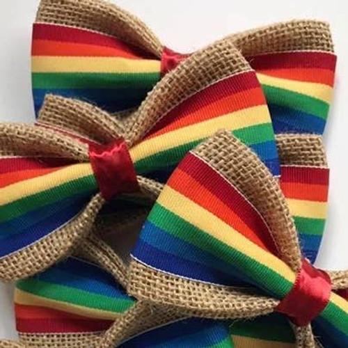 Pet Bow Tie: Rainbow- large