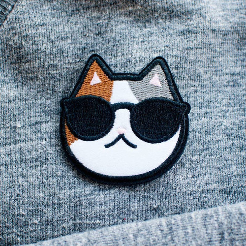 Cool Cat Iron-on Patch
