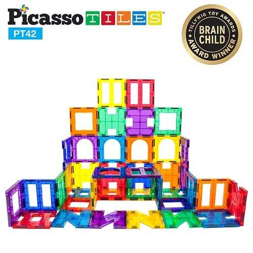 Picasso Tiles: 42 piece Set Magnet Building Tiles