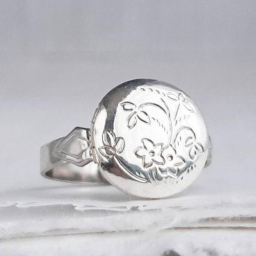 Silver Mini Locket Ring