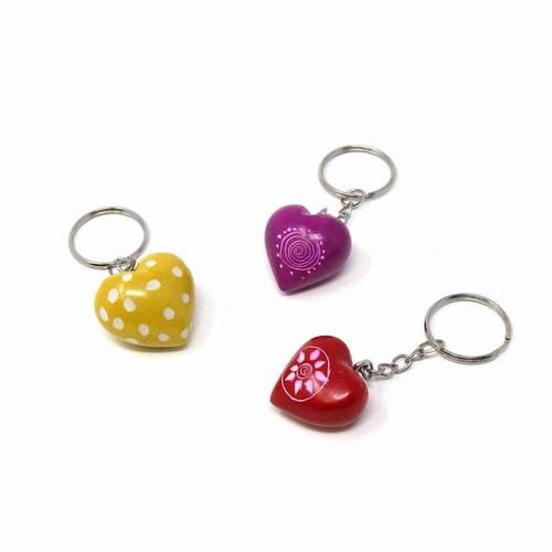 Soapstone Heart Keychains
