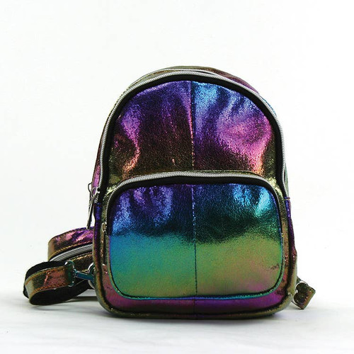 Metallic Rainbow Mini Backpack