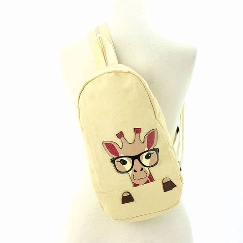 Peeking Giraffe Sling Backpack