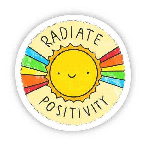 Radiate Positivity Vinyl Sticker