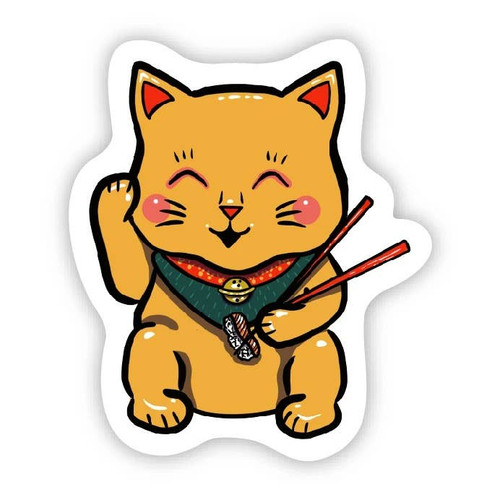 Sushi Cat Vinyl Sticker