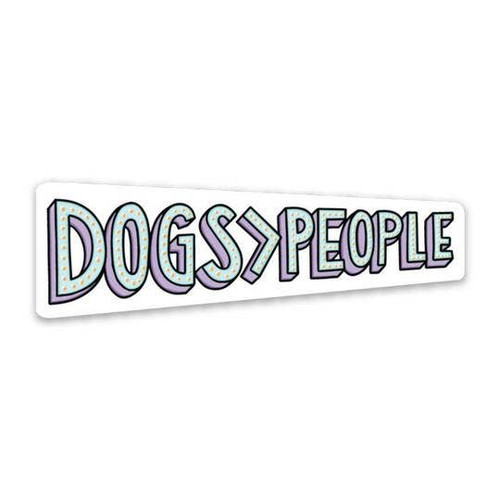 Dogs People Vinyl Sticker