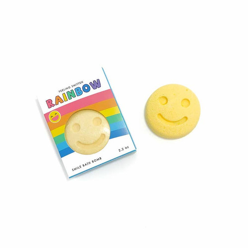 Happy Face Rainbow Bath Bomb