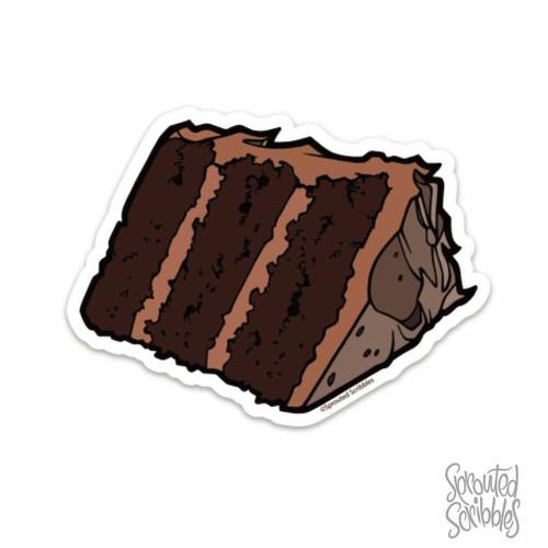 Chocolate Cake Vinyl Sticker