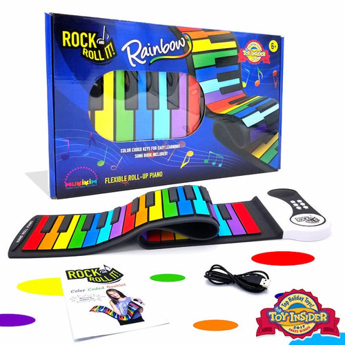 Portable & Flexible Rainbow Piano