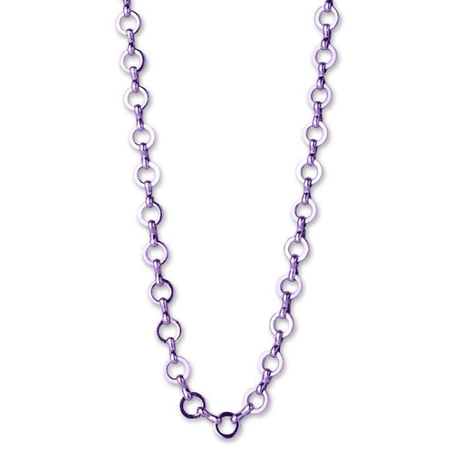 Charm Necklace: Purple Link