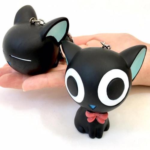 Soft Black Cat Key Chain