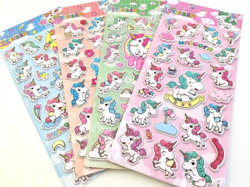 Puffy Unicorn Stickers