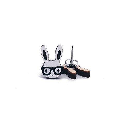 Bunny in Glasses Earrings