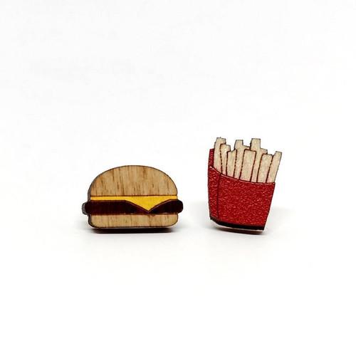 Burger & Fries Earrings