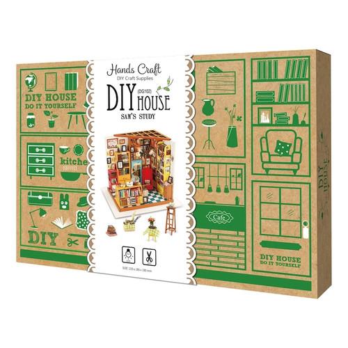 Sam's Study Miniature Dollhouse Kit