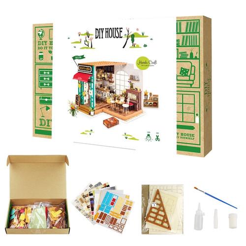 Simon's Coffee Shop Miniature Dollhouse Kit
