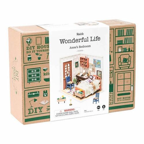 Annie's Bedroom Miniature Dollhouse Kit