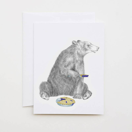 Black Bear & Pie Card
