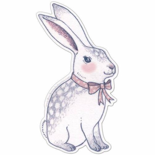 Bowtie Bunny Vinyl Sticker