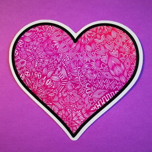 Pink Heart Vinyl Sticker