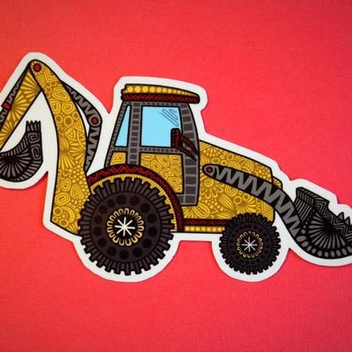 Digger Truck  Vinyl Sticker