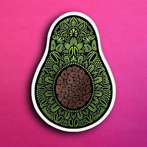 Avocado Vinyl Sticker