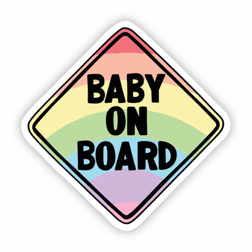 Baby on Board Rainbow Vinyl Sticker