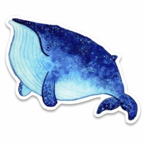 Blue Whale Vinyl Sticker