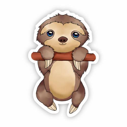 Baby Sloth Vinyl Sticker
