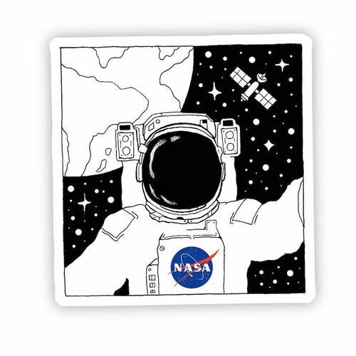 Astronaut Selfie Vinyl Sticker