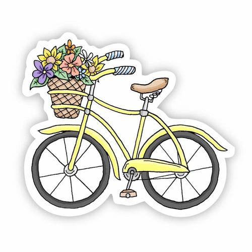 Yellow Bicycle Vinyl Sticker