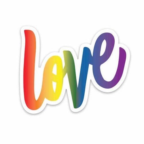 Rainbow Love Vinyl Sticker