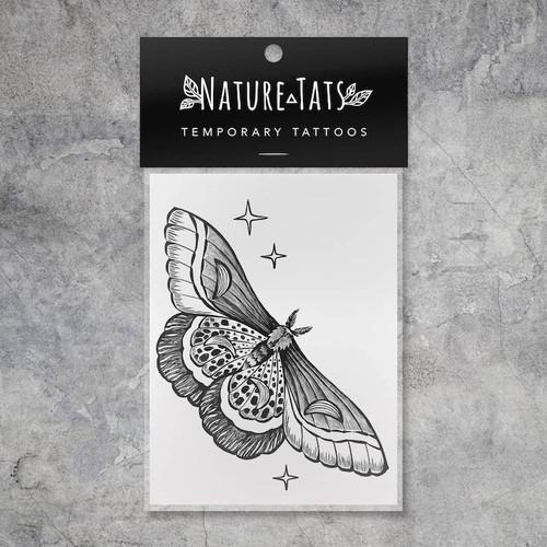 Night Moth Temporary Tattoo
