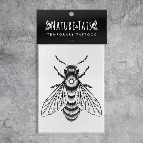 Big Bee Temporary Tattoo