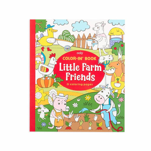 Color-in' Book: Farm Friends