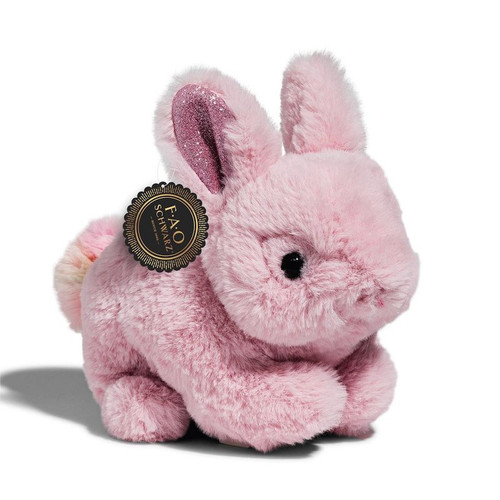 Pink Stuffed Bunny with Sparkly Ears