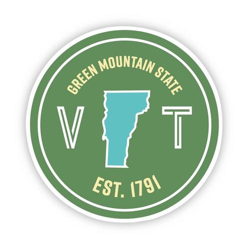 Green Mountain State Vinyl Sticker