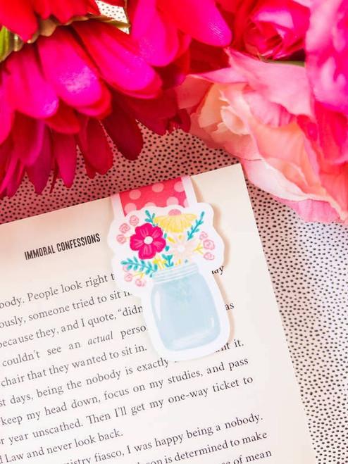 Magnetic Bookmark: Jar Full of Flowers