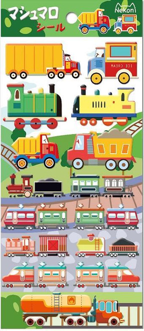Puffy Train Stickers