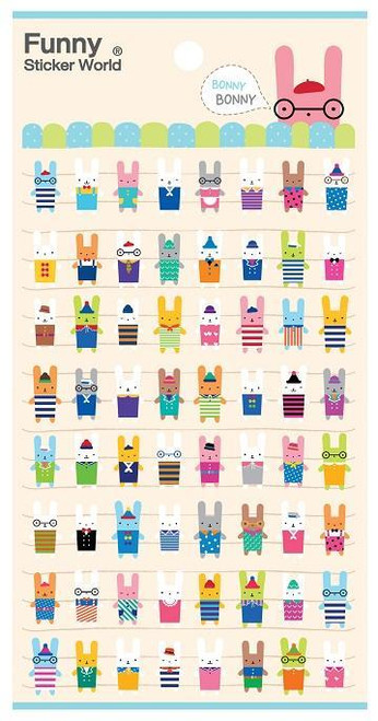 Puffy Mini Bunny Stickers