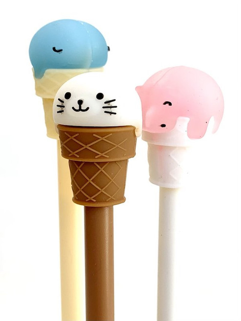 Ice Cream Animal Gel Pen