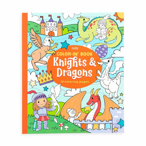 Color In' Book: Knights & Dragons