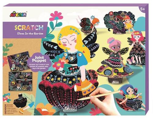 Scratch Art Jointed Puppets: Fairies