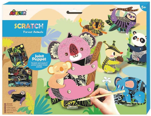 Scratch Art Jointed Puppets: Forest Friends