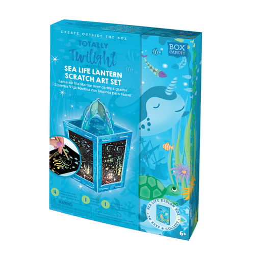 Sea Life Lantern Scratch Art Kit
