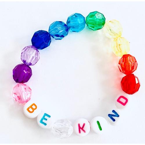 Be Kind Rainbow Beaded Bracelet
